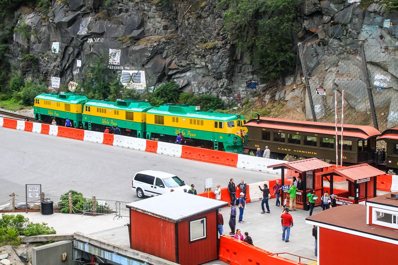 White Pass Railroad Train - Skagway