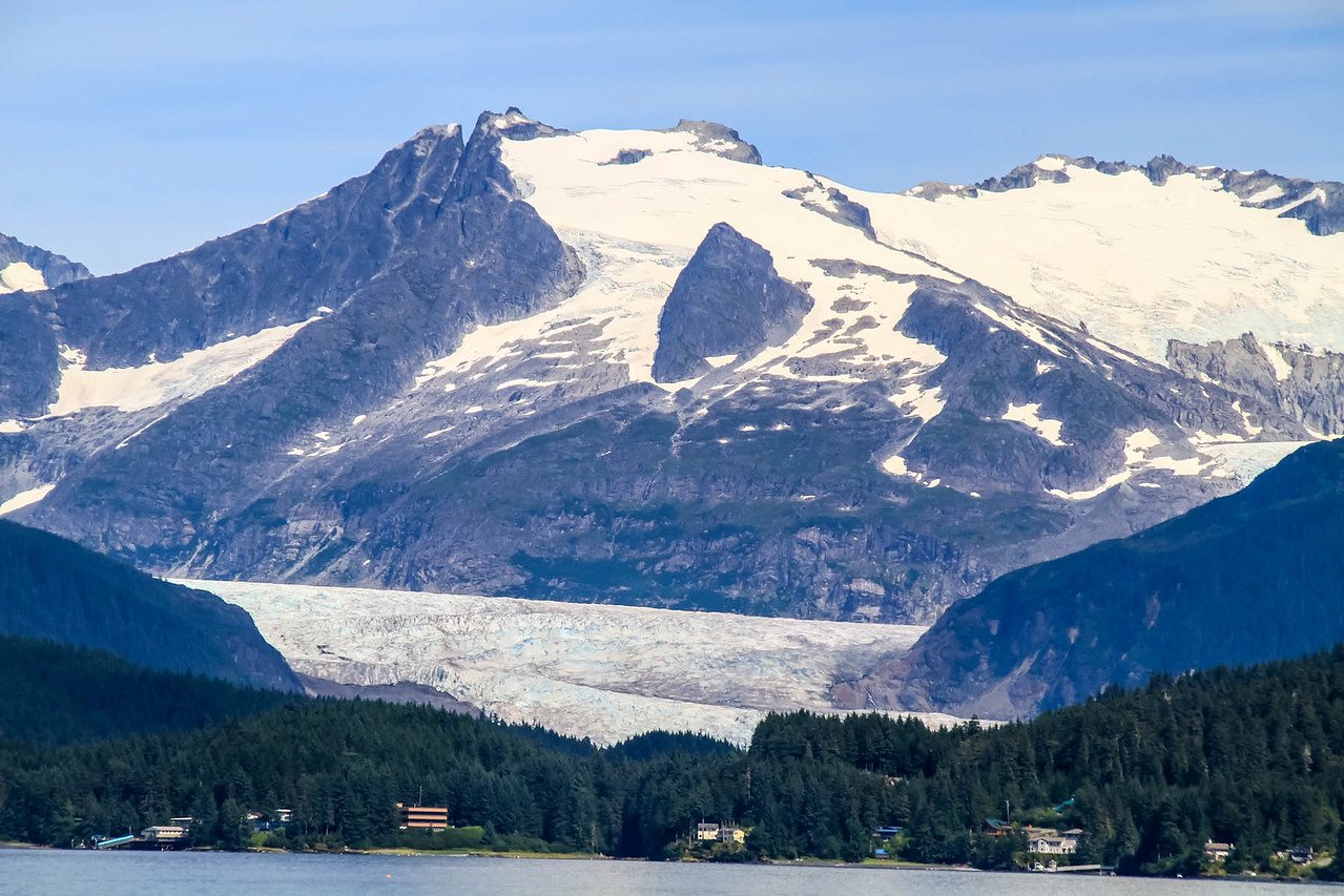 Mendenhall Glacier from  Whale Watching Boat