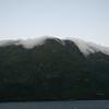 Early morning fog rolls over hills, Inside Passage 7/10/2014