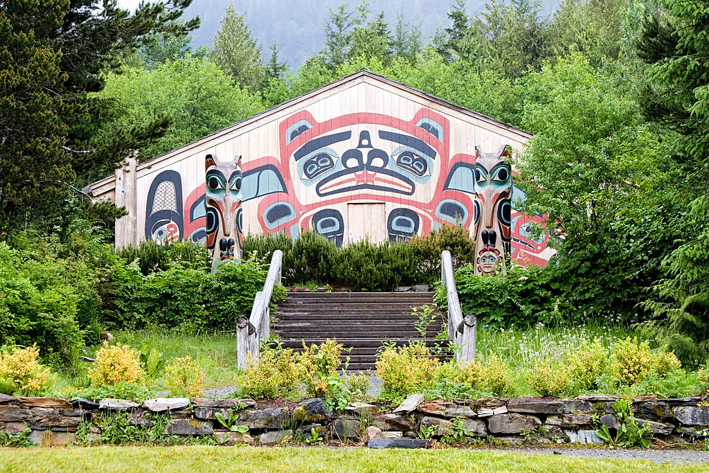 Tlingit Indian Clan House in Petersburg, Alaska.