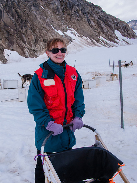 "And Cheri gets to be ""musher-in-training!"""