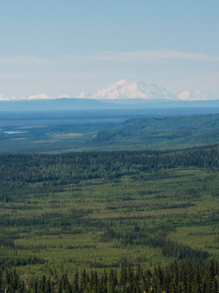 Leaving Fairbanks, we had a nice sunny day with a clear (albeit faraway) view of Mount McKinley