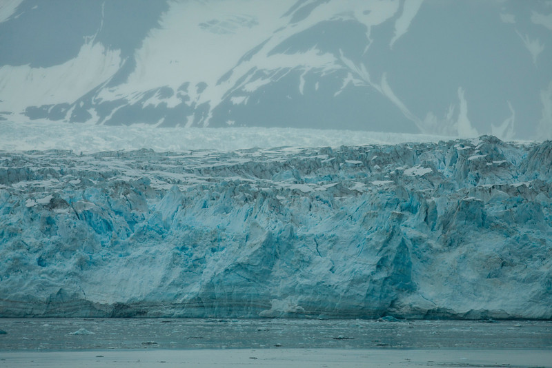 Another section of Hubbard Glacier, with a glimpse of the top of the glacier above.