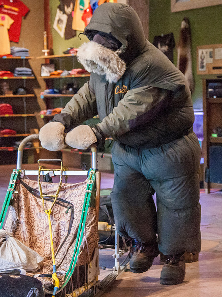 And this is what you'd probably be wearing in the Iditarod.  For 10-15 days and nights (without a bath or shower)!