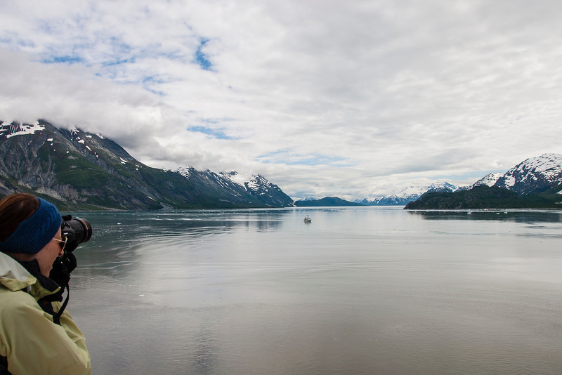 Glacier Bay - looking away from the glaciers back down the channel