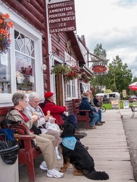 Talkeetna, a little town just South of Denali.  Just a quaint little tourist town (where the dogs beg for ice cream, just like everywhere else!).