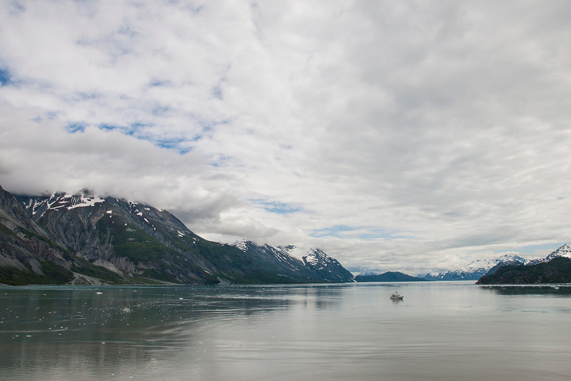 Glacier Bay - view away from the glaciers