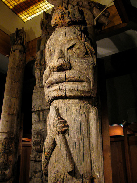 The totem pole museum in Ketchikan.