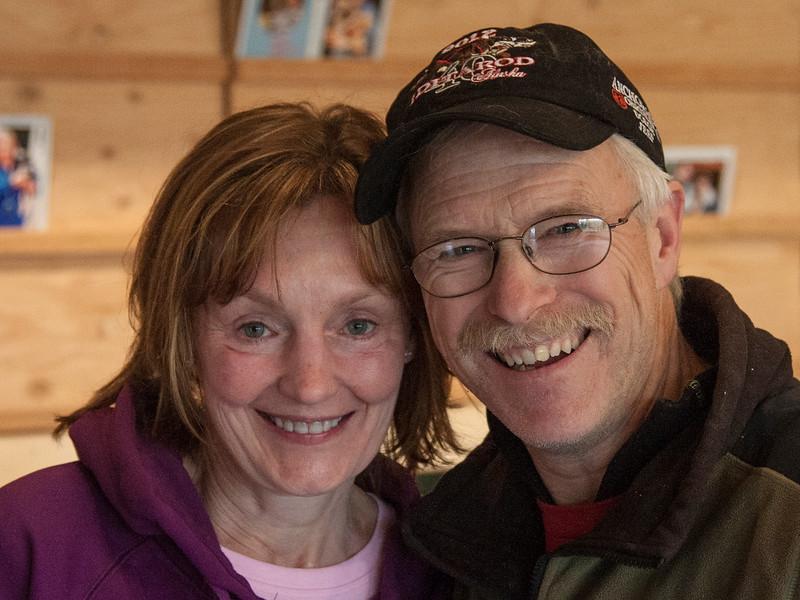 Cheri with Jeff King, 4-time Iditarod champion.