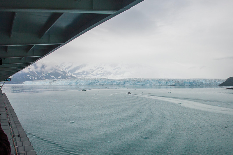 Hubbard Glacier, six miles across and three times as high as the Statue of Liberty! <br /> (More glacier photos later)