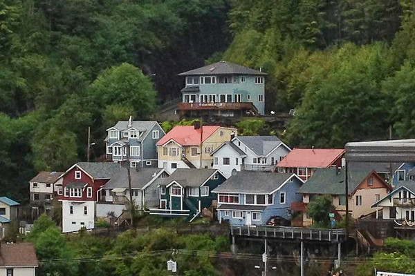 Ketchikan is a quaint and charming little town.  Although it still has plenty of tourist places, it doesn't feel as commercialized as Skagway (which is TOTALLY touristy) and Juneau.  It's the only one of the three we felt like we would like to spend more time.