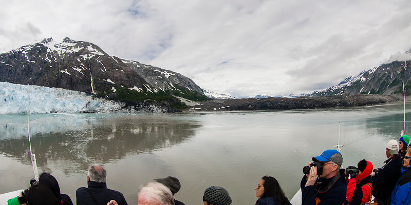 Glacier Bay (impossible to get both glaciers in one frame, but I tried!)