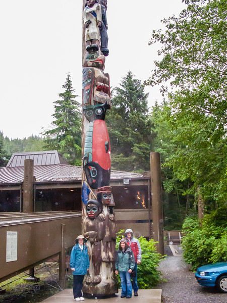 Cheri, Traci and Rick outside Totem Pole Museum in Ketchikan