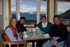 Outstanding seafood-sampler lunch at the Lighthouse restaurant in Haines during all-day photo excursion while ship was docked in Skagway - (from left) Sarah, the photo guide from Haines, Gavin from South Africa, and Jennie Gator from Australia.