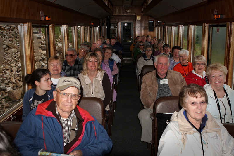 Riding the Narrow-Gauge Train across White Pass Trail from Skagway