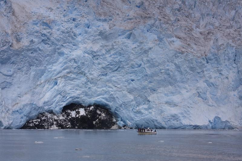 Scale of glacier in Kenai Fjord