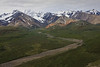 View of Polychrome Pass and Mountains in Denali NP. The two dimensional picture just doesn't do justice to the depth and width of the valley and mountains. Breath-taking in person!