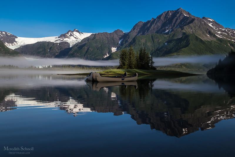 Idyllic Pedersen Lagoon in Kenai Fjords
