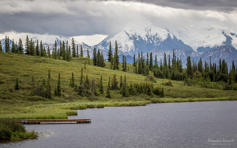 Wonder Lake in Denali National Park