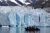 Getting up close and personal to the glacier.