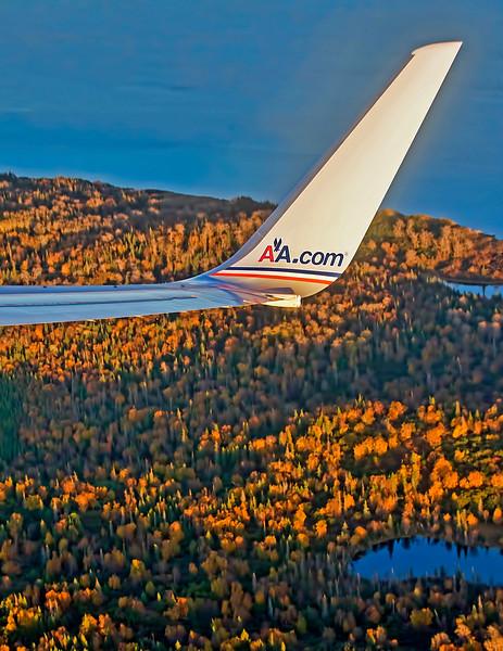 American Airlines Boeing 757 Short Final Ted Stevens International Airport Anchorage Alaska