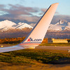American Airlines Dallas Flight Taxiing to Gate Anchorage Alaska