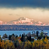 Mount McKinley at Sunset from Anchorage Alaska
