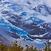 Glacier Portage Valley Alaska Oil Painting Effect
