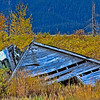 House Remains from Portage Village Alaska after 1964 Earthquake