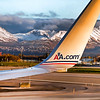 American Airlines Boeing 757 Ground Taxi Ted Stevens International Airport Anchorage Alaska