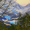 Byron Glacier Portage Lake Alaska Oil Paint Effect