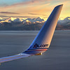 End of the Season American Airlines Boeing 757 Short Final Anchorage Alaska