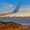 American Airlines Boeing 757 Short Final Anchorage Alaska over Cook Inlet
