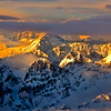Snow Covered Peaks South of Anchorage at Sunset