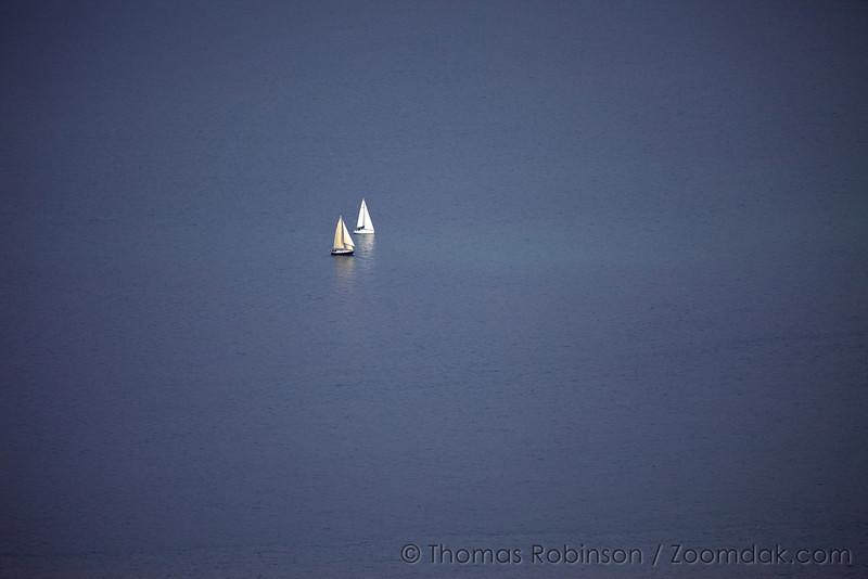 Two Sail Boats on Resurrection Bay