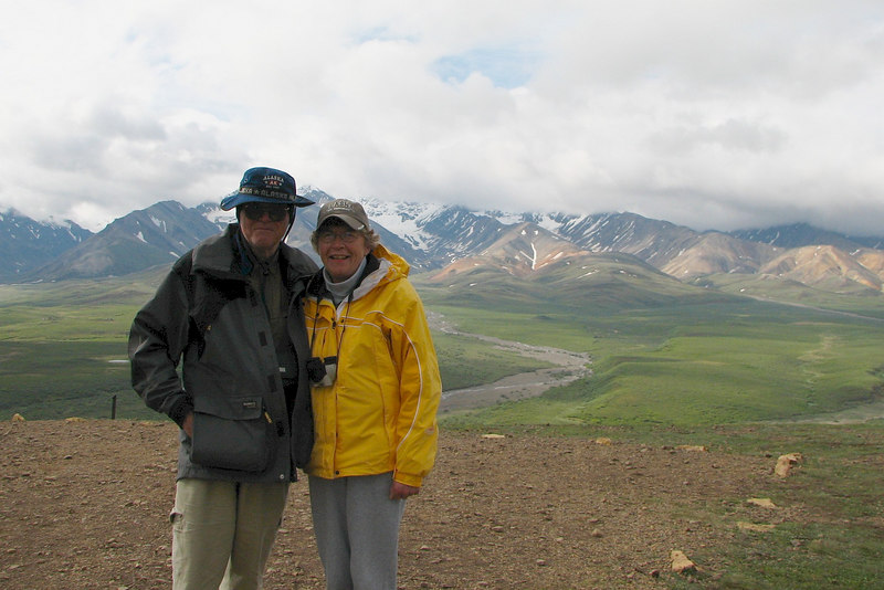 Cathy and I at Polychrome Overlook at mile 46, on the way to Wonder Lake.