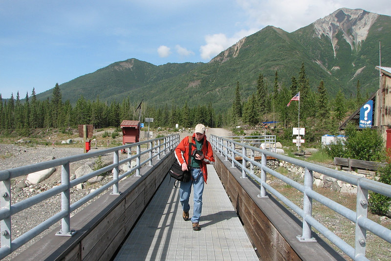 Onto the bridge - it use to be a rope and wood walkway...