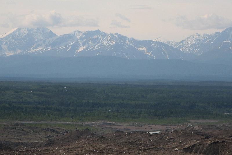 The Wrangell mountains to the NorthEast.