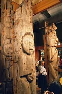 Totem Heritage Center. 19th century totems in Alaska