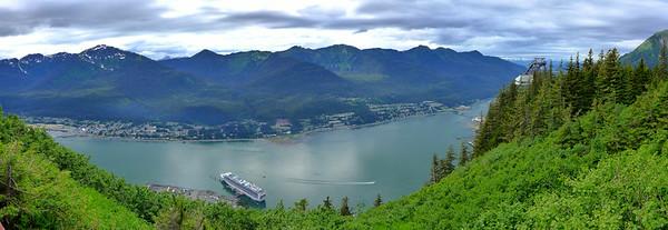 Juneau, Alaska from Mt. Roberts
