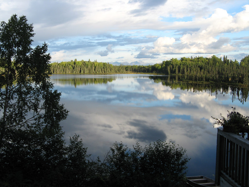 Loon Lake, site of the cabins where several of the family stayed