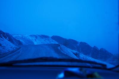 Treacherous mountain pass in Denali National Park.  No gaurd rails!