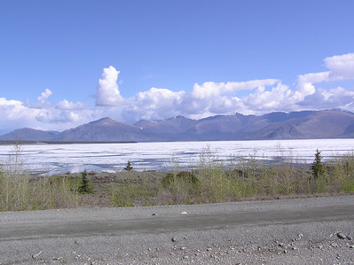 Notice the lake is still frozen over, and we are still 200 miles from Alaska