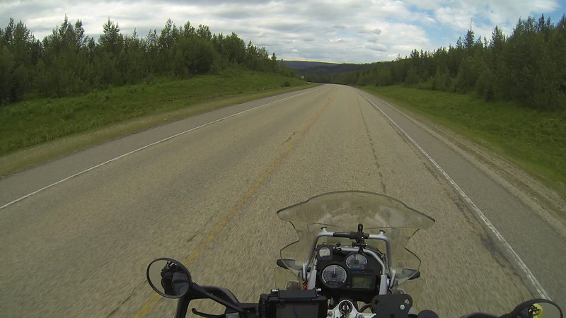 Riding Along the Bighorn Highway Between Jasper and Grand Prairie, AB.