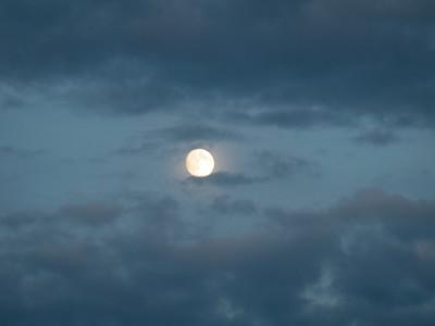 Full Moon in Alaska Daylight