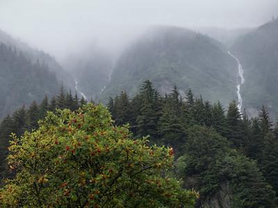 Clouds and Mist in Juneau, Alaska