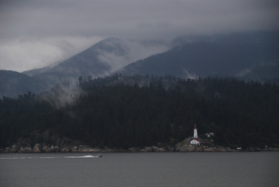 The inside passage between the Canadian mainland and Vancouver Island.