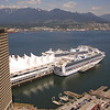 Saturday, May 19th, day before departure.  A beatiful sunny day in Vancouver. View of the cruise terminal from the Vancouver Lookout Tower.  Three ships departed Saturday evening, and three more, including ours, would depart on Sunday.  Alaska is a popular place!