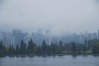 Vancouver's Stanley Park, with high rise condos in the background.
