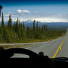 Todd driving the road to the Wrangell Mountains
